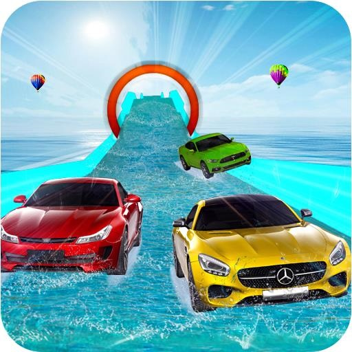 WATER SLIDE CAR STUNT RACING GAME 3D